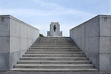 Steps leading to equestrian statue of Jan Zizka, National Monument on Vitkov Hill, Prague, Czech Republic - 40090-230-1