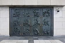 Bronze doors on National Monument on Vitkov Hill, Prague, Czech Republic - 40090-240-1