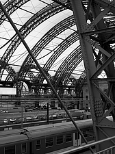 Dresden Hauptbahnhof, Dresden, Germany is the largest passenger station in the Saxon capital of Dresden - 13460-110-2