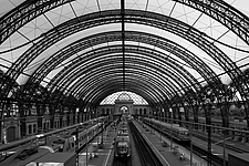 Dresden Hauptbahnhof, Dresden, Germany is the largest passenger station in the Saxon capital of Dresden - 13460-90-2