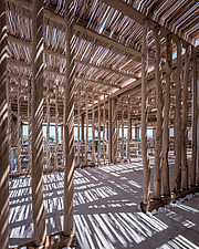 Detail of wicker pergola, Rinela Restaurant at Mitsis Rinela Beach Resort & Spa in Crete island Greece by Elastic Architects - 16946-200