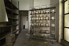 inside of an abandoned animal testing facility in Italy - ARC101284