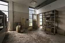 inside of an abandoned animal testing facility in Italy - ARC101286