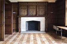 a fireplace in an abandoned castle in Belgium - ARC101287