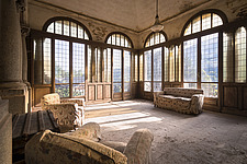 a couple sofa's in an abandoned house in Italy - ARC101295