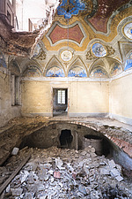 an abandoned villa with holes in the floor due to an earthquake in Italy - ARC101298
