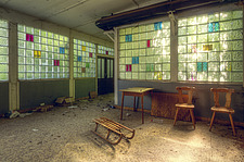 a room in an abandoned hotel in Germany - ARC101309