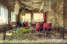 a room in an abandoned hotel in Germany - ARC101316