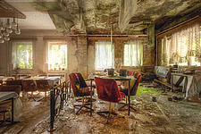 a room in an abandoned hotel in Germany - ARC101319