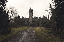the exterior of the abandoned castle in Noisy, Belgium - ARC101320