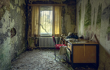 a room in an abandoned hotel in Germany - ARC101322