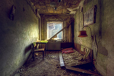a room in an abandoned hotel in Germany - ARC101325