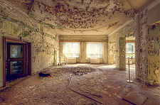 a room in an abandoned hotel in Germany - ARC101326