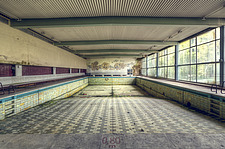 a swimming pool in an abandoned Hotel in Germany - ARC101327