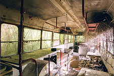 a kitchen in an abandoned train in Italy/ - ARC101331