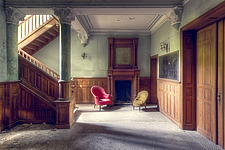 a room in an abandoned villa in Belgium - ARC101335