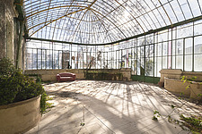 a beautiful greenhouse in an abandoned castle in France - ARC101340