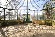 a beautiful greenhouse in an abandoned castle in France - ARC101342