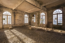 a room in a beautiful abandoned castle in France - ARC101346