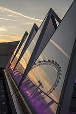 The roof of the newly refurbished Hayward Gallery, a world-renowned contemporary art gallery and landmark of Brutalist architecture on London's South... - ARC102065