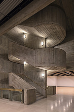 The new interior of the Hayward Gallery, a world-renowned contemporary art gallery and landmark of Brutalist architecture on London's South Bank - ARC102077