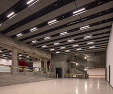 The new interior of the Hayward Gallery, a world-renowned contemporary art gallery and landmark of Brutalist architecture on London's South Bank - ARC102081
