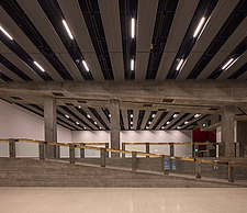 The new interior of the Hayward Gallery, a world-renowned contemporary art gallery and landmark of Brutalist architecture on London's South Bank - ARC102082
