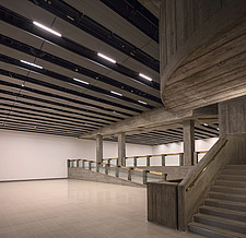 The new interior of the Hayward Gallery, a world-renowned contemporary art gallery and landmark of Brutalist architecture on London's South Bank - ARC102084