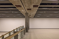 The new interior of the Hayward Gallery, a world-renowned contemporary art gallery and landmark of Brutalist architecture on London's South Bank - ARC102096