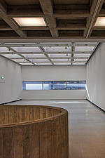 The new interior of the Hayward Gallery, a world-renowned contemporary art gallery and landmark of Brutalist architecture on London's South Bank - ARC102111