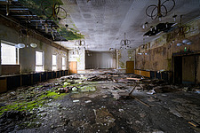 A ballroom, part of an abandoned hotel, in Germany - ARC102849