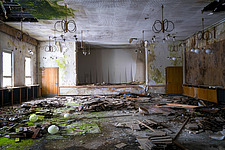 A ballroom, part of an abandoned hotel, in Germany - ARC102850