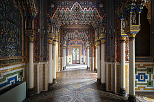 Beautiful architecture in the abandoned Castle of Sammezzano in Italy - ARC102860