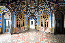 Beautiful architecture in the abandoned Castle of Sammezzano in Italy - ARC102863