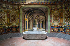 Beautiful architecture in the abandoned Castle of Sammezzano in Italy - ARC102878