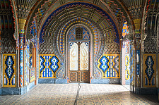 Beautiful architecture in the abandoned Castle of Sammezzano in Italy - ARC102889