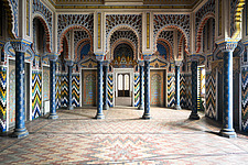 Beautiful architecture in the abandoned Castle of Sammezzano in Italy - ARC102890