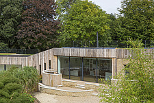 Exterior of Ashbrook House, a contemporary family eco-house in Blewbury, South Oxfordshire, UK - ARC102946