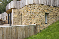 Exterior of Ashbrook House, a contemporary family eco-house in Blewbury, South Oxfordshire, UK - ARC102963