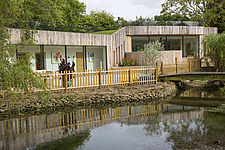 Exterior of Ashbrook House, a contemporary family eco-house in Blewbury, South Oxfordshire, UK - ARC102967