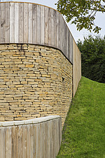 Exterior of Ashbrook House, a contemporary family eco-house in Blewbury, South Oxfordshire, UK - ARC102970