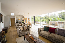 Kitchen diner in Ashbrook House, a contemporary family eco-house in Blewbury, South Oxfordshire, UK - ARC102983