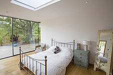A bedromm  in Ashbrook House, a contemporary family eco-house in Blewbury, South Oxfordshire, UK - ARC102999