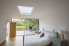 A bedromm  in Ashbrook House, a contemporary family eco-house in Blewbury, South Oxfordshire, UK - ARC103000