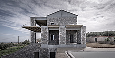 Exterior view of Olive ##38; Stone aka Katsimpiri residence in Panorama Achaea, Greece by architect Nikos Mourikis - ARC103482