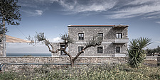 Exterior view of Olive ##38; Stone aka Katsimpiri residence in Panorama Achaea, Greece by architect Nikos Mourikis - ARC103484