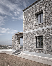 Exterior view of Olive ##38; Stone aka Katsimpiri residence in Panorama Achaea, Greece by architect Nikos Mourikis - ARC103492