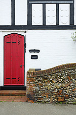 Traditional Cottage with Red Painted Door Aldeburgh, Suffolk, UK - ARC103422