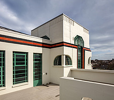 Exterior of the iconic art deco Hoover Building in London, UK which has been converted into apartments by Interrobang Architects and Webb Yates Engine... - ARC103550
