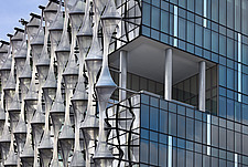 Exterior view of facade with outer envelope detail, The American Embassy in Nine Elms, London, UK - ARC104006